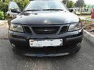 Оклейка решетки радиатора в черный цвет Saab 93