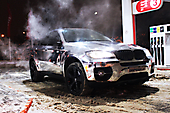 С первым ХРОМом г. Минск. BMW X6 - Оклейка в пленку Silver Chrome