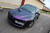 Оклейка в черно-пурпурный хамелеон Alfa Romeo 159