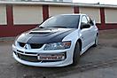 Оклейка в Белый цвет Mitsubishi Lancer Evolution 8